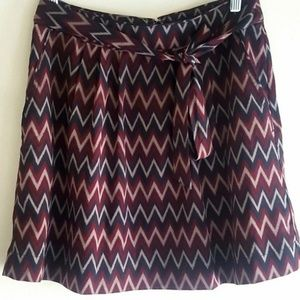 Banana Republic Factory Skirt Pattern Black Maroon